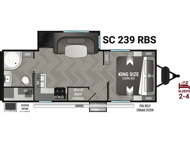 Shadow Cruiser Travel Trailer Model 239RBS by Cruiser RV Floorplan
