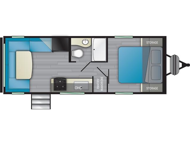 Prowler Travel Trailer Model 212RD by Heartland Floorplan