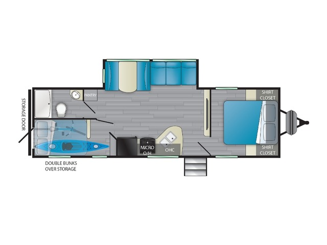 Prowler Travel Trailer Model 271BR by Heartland Floorplan