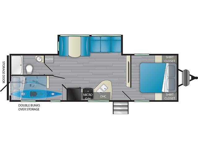 Prowler Travel Trailer Model 271BR by Heartland Floorplan