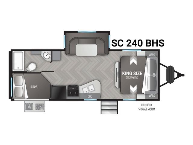 Shadow Cruiser Travel Trailer Model 240BHS by Cruiser RV Floorplan
