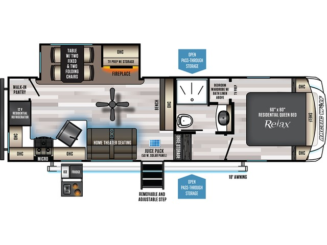Arctic Wolf Fifth Wheel Model 261RK by Forest River Floorplan