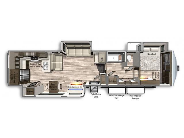 Yukon Fifth Wheel Model 399ML by Dutchmen Floorplan