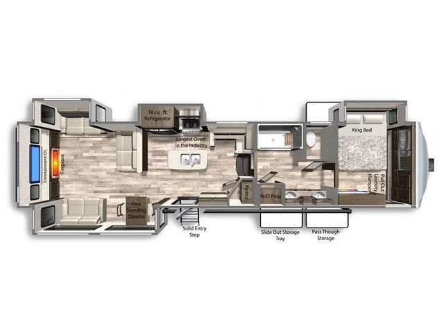 Yukon Fifth Wheel Model 410RD by Dutchmen Floorplan