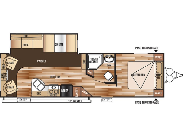 Salem Travel Trailer Model 27RLSS by Forest River Floorplan