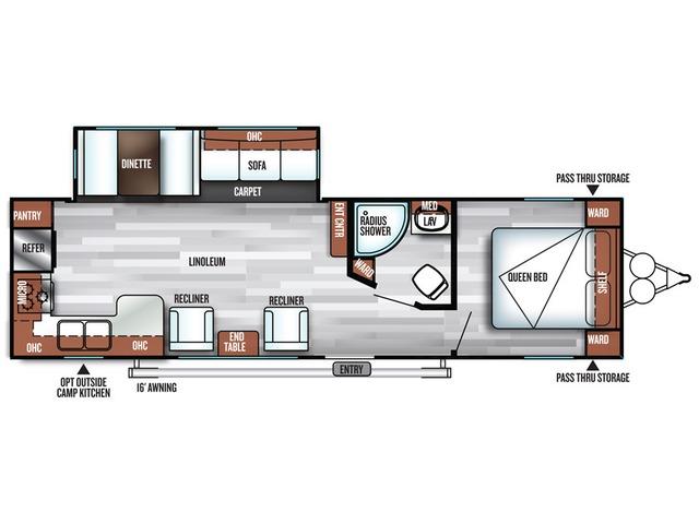 Salem Travel Trailer Model 27RKSS by Forest River Floorplan