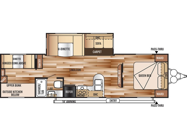 Salem Travel Trailer Model 30KQBSS by Forest River Floorplan