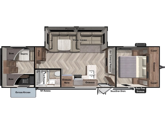 Salem Travel Trailer Model 30KQBSS by Forest River Floorplan