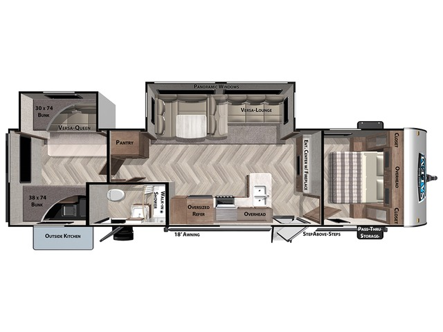 Salem Travel Trailer Model 32BHDS by Forest River Floorplan
