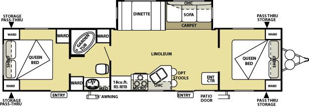 2 bedroom fifth wheel floor plans