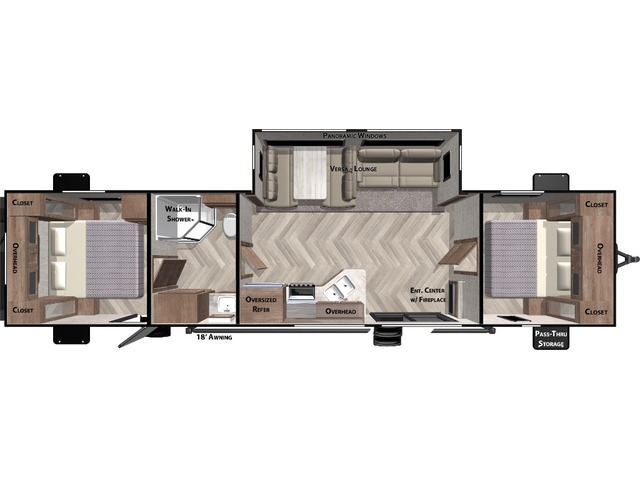 Salem Travel Trailer Model 37BHSS2Q by Forest River Floorplan