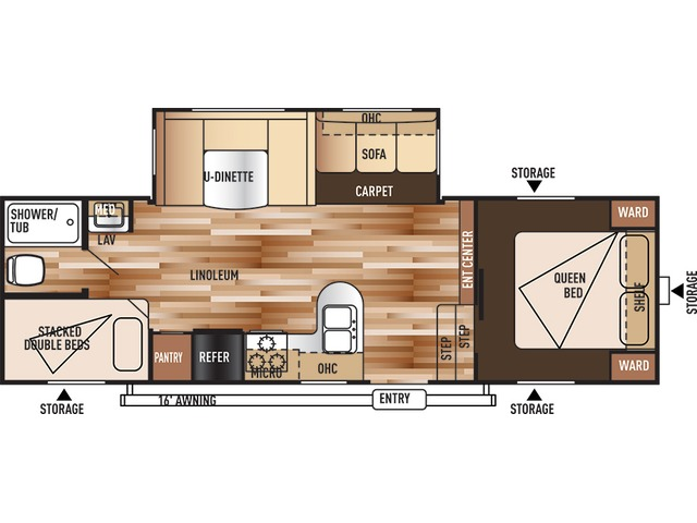 Salem Fifth Wheel Model 26DDSS by Forest River Floorplan