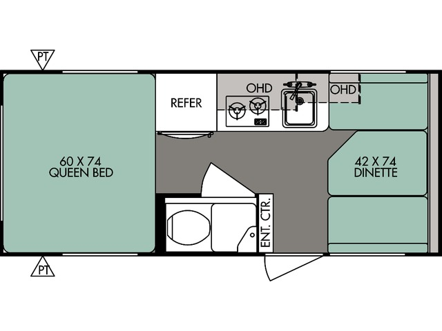 R-Pod Travel Trailer Model 171 by Forest River Floorplan
