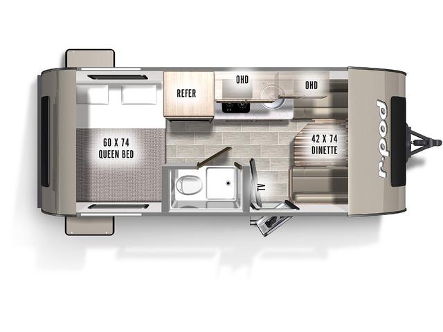 R-Pod Travel Trailer Model 171 by Forest River Floorplan