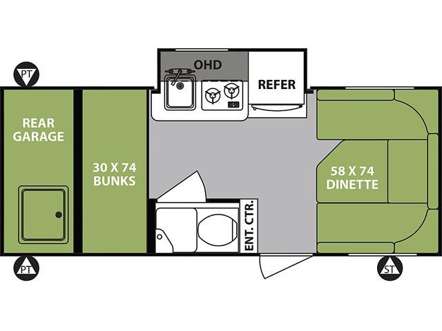 R-Pod Travel Trailer Model 182G by Forest River Floorplan
