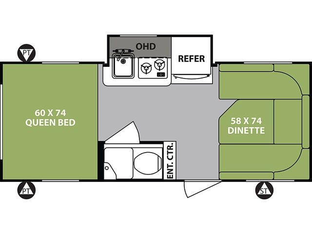 R-Pod Travel Trailer Model 178 by Forest River Floorplan