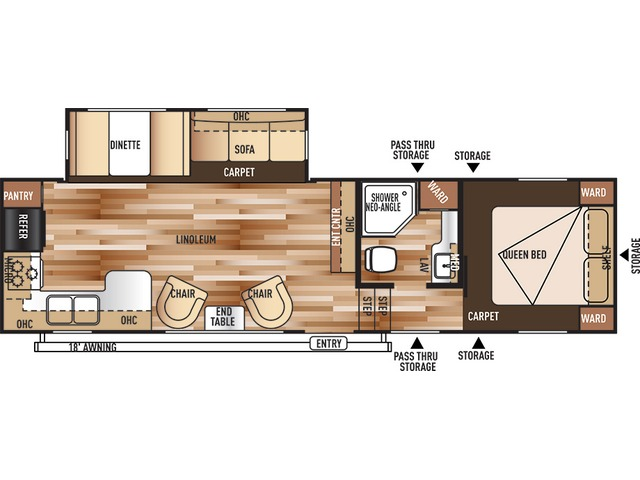 Salem Fifth Wheel Model 29RKSS by Forest River Floorplan