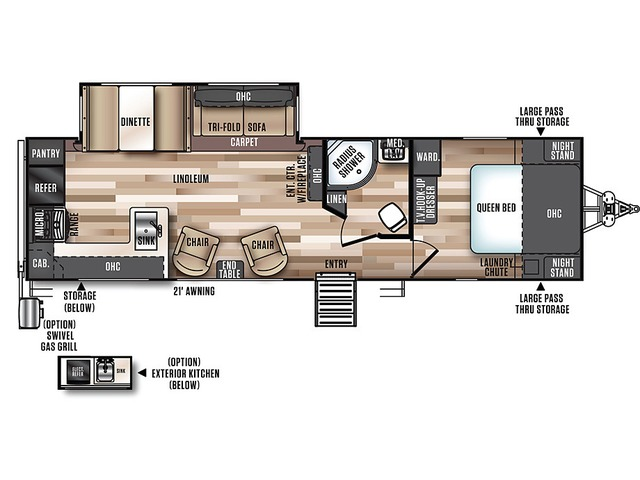 Hemisphere Travel Trailer Model 282RK by Forest River Floorplan