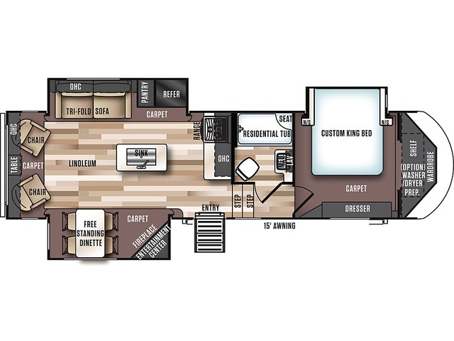 Hemisphere Fifth Wheel Model 286RL by Forest River Floorplan