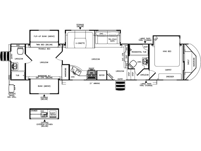 Hemisphere Fifth Wheel Model 356QB by Forest River Floorplan