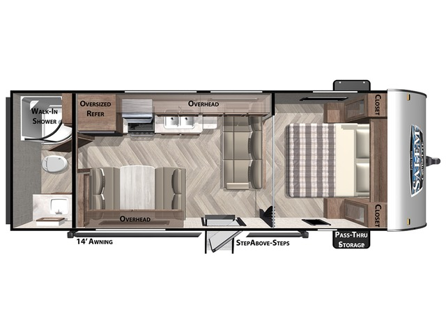 Cruise Lite Travel Trailer Model 241QBXL by Forest River Floorplan