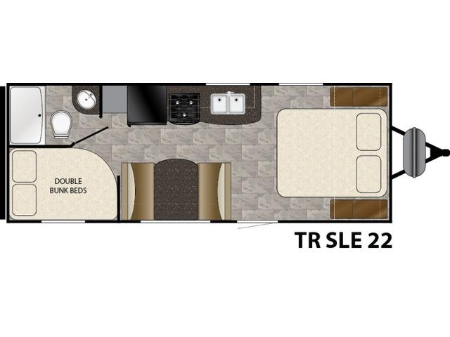 Trail Runner SLE Travel Trailer Model 22SLE by Heartland Floorplan