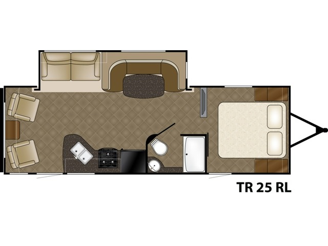 Trail Runner Travel Trailer Model 25RL by Heartland Floorplan