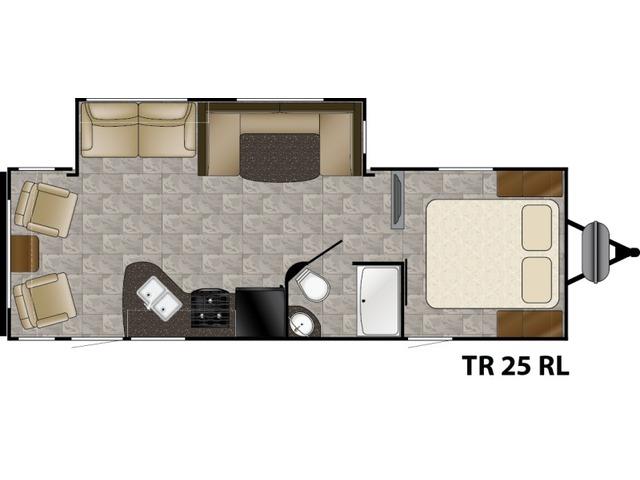 Trail Runner Travel Trailer Model 25RL by Heartland Floorplan