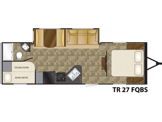 Trail Runner Travel Trailer Model 27FQBS by Heartland Floorplan