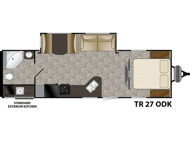 Trail Runner Travel Trailer Model 27ODK by Heartland Floorplan