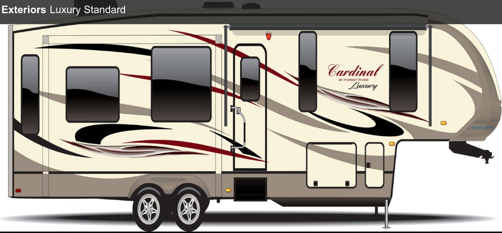 Cardinal Luxury 3950tzx Fifth Wheels By Forest River